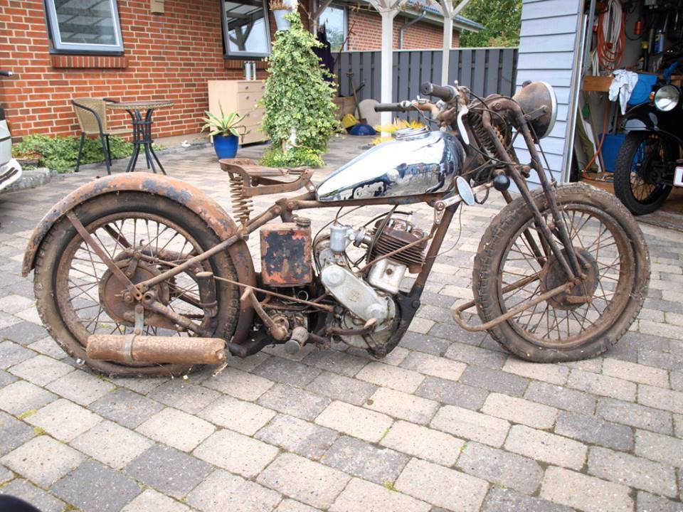 The 1932 Dunelt Motocycle awaiting restoration!
