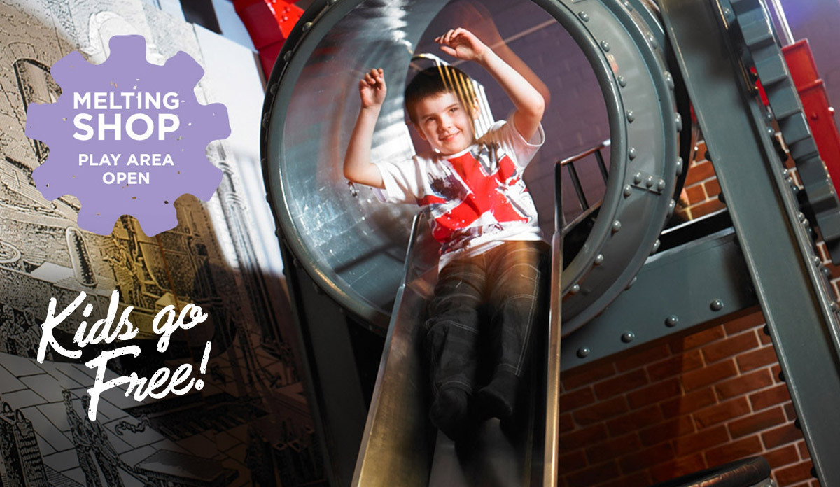 Kids love being melted, rolled and hammered into steel objects from their imagination!